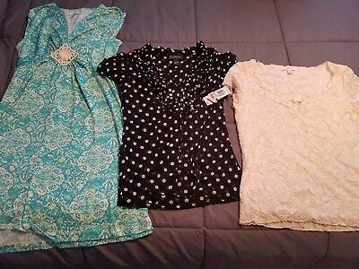 Lot Of 9 Womens Blouses Size L Ae Abercrombie Express On