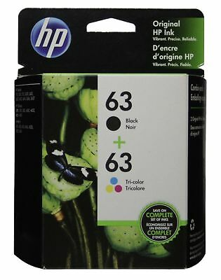 HP 63 Ink Cartridge Combo Black & Color Genuine New In SEALED BOX