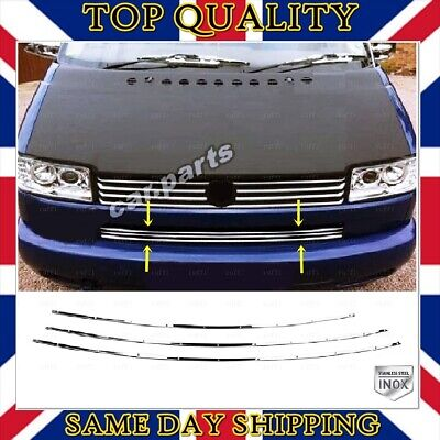 8-Pieces 1995-2003 Chrome Front Grill Cover Fits Caravelle T4
