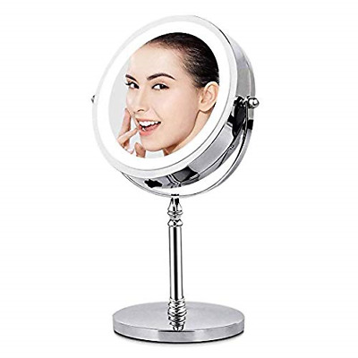 BRIGHTINWD Magnifying Mirror with Lights, Lighted Makeup 10X Magnification,...