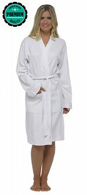 WOMENS LADIES 100% COTTON Waffle Robe Dressing Gown Wrap Size S 88aebc786