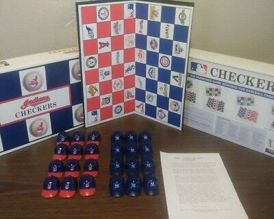 Cleveland Indians Checkers Exclusive, Collectible Indians & NY Yankee Hat Pieces