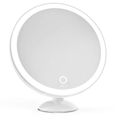 SKM Lighted Vanity Makeup Mirror with 23 LEDs, 1X and 5X Magnifying Tabletop...