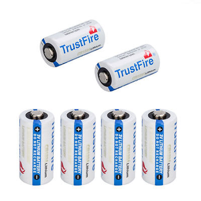 TrustFire 123A CR123A 3 Volt Lithium Batteries (6 Pack) For Camera, Flashlight!