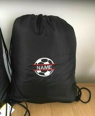 Personalised football rucksack gym bag PE bag swim bag - drawstring rucksack