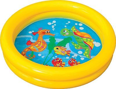 Intex Baby Paddling Pool 2 Ring Small 61cm Inflatable Home Garden Holiday Fun