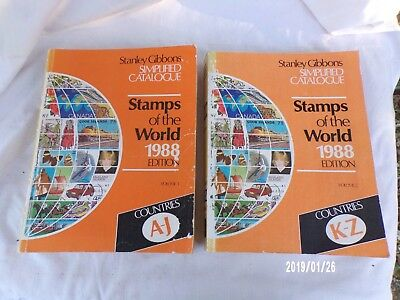 Stanley Gibbons Simplified Catalogue  Stamps Of The World 1988 2 Tomes
