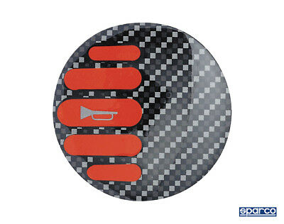 Sparco Red Carbon Horn Badge Race / Rally
