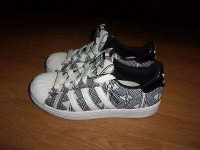 ADIDAS SUPERSTAR (PCI 789002) Black  u0026 White patterned trainers size  ...