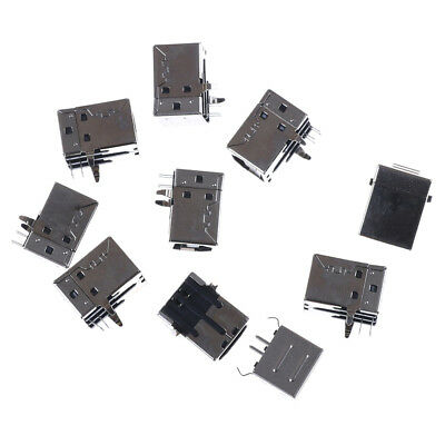 10x USB Female Type-B Port 4-Pin Right Angle PCB DIP Jack Socket high quality RR
