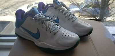 3dc73d44dfe7c Nike Zoom Kobe V 5 Draft Day Sz 8.5 386429-100 Hornets White Purple Orion