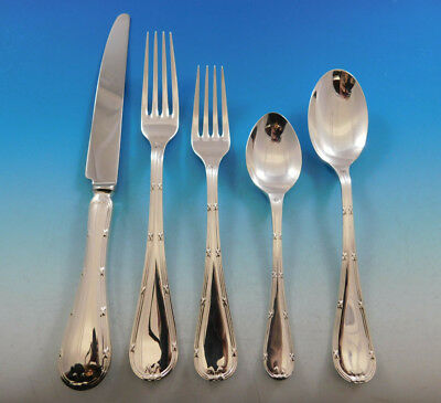 Reed & Ribbon by Carrs Sterling Silver Flatware Set 12 Service 67 pcs Dinner New
