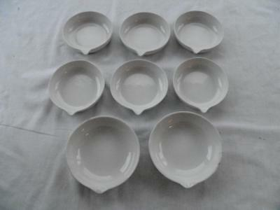 "Eight 4 1/4"" Coors Porcelain Laboratory Spouted Bowls"