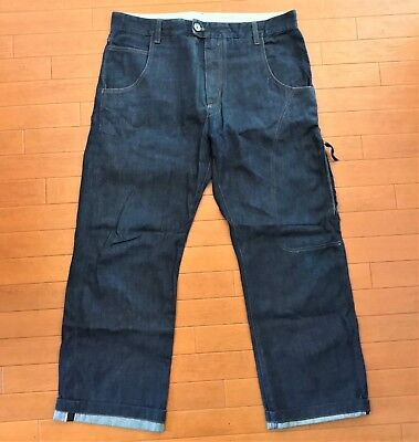 Coming Soon by Yohji Yamamoto selvedge indigo dyed jeans, size 50 (fits 36)