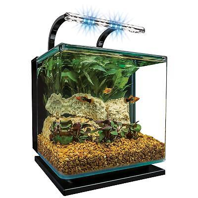 MarineLand Contour Glass Aquarium Kit with Rail Light