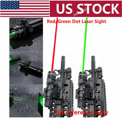 Red/Green Dot Laser Sight Lights Scope Rail+Remote Tail Switch For Rifle Hunting