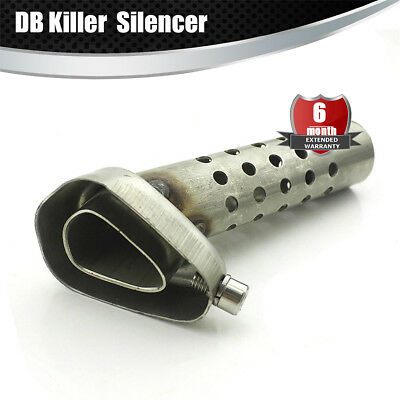 STAINLESS STEEL EXHAUST Pipe Silencer Muffler 127mm Length Universal  Motorcycle