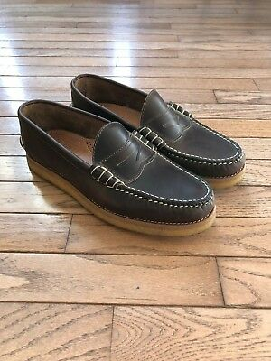 bcb8130d701 OAK STREET BOOTMAKERS Brown Crepe Sole Penny Loafer 9 -  140.00 ...