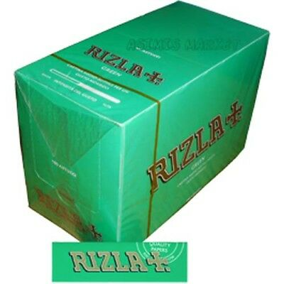 Rizla Green Smoking Rolling Papers Full Box 100 Booklets Regular Size Original