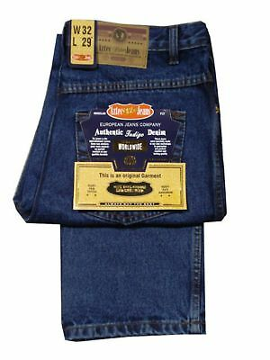 Mens Aztec Bigger Size Jeans Quality Workwear Denim Zip Fly - Stonewash Blue
