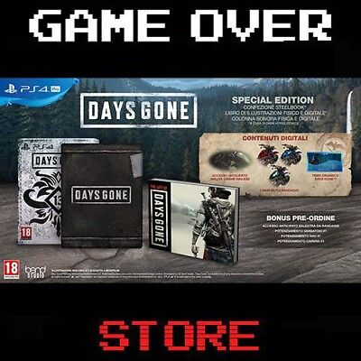 DAYS GONE SPECIAL EDITION Playstation 4 PS4 italiano Nuovo Pre Order Promo