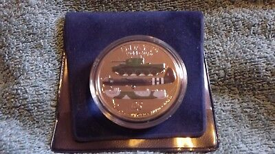 £5 D-DAY 75th ANNIVERSARY, 1944 - 2019, Five Pound Coloured Coin - BUNC