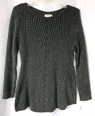 STYLE   CO. Plus Size Ribbed Sweater Womens Size 1X Grey Heather ... 5649611d1