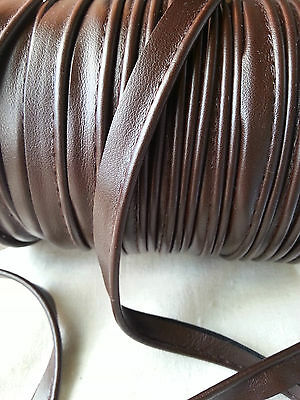 2 Meters Faux Leather Brown Insertion Piping Flanged Rope Upholstery 8mm Wide