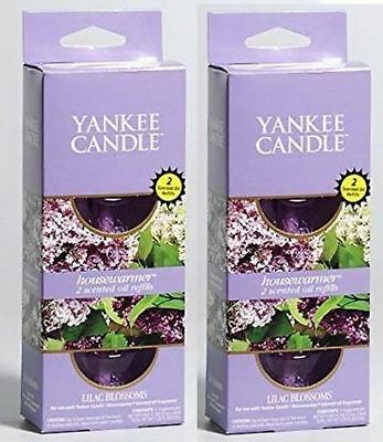2 YANKEE Candle LILAC BLOSSOMS Scent Plug in HOME Fragrance Oil Electric REFILLS