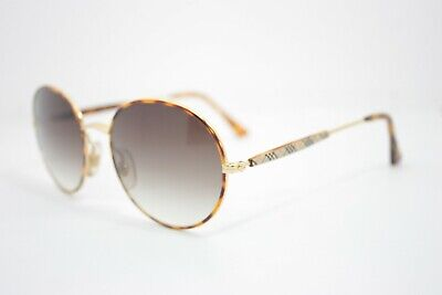 8599f8e65c3 Burberrys of London Round Vintage Sunglasses Rare MadeinFrance Havana Gold  50mm