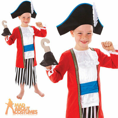 Boys Kids Childs Caribbean Pirate Halloween Fancy Dress Costume Outfit 5-16 Yrs