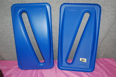 Rubbermaid 23 Gallon Paper Recycle Tops for Slim Jim Container Set of 2   S4813