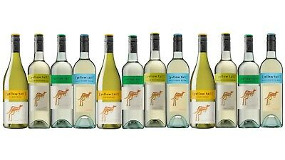 White Wine Mixed Yellow Tail Summer Favorites Pack 12x750ml Fast & Free Delivery