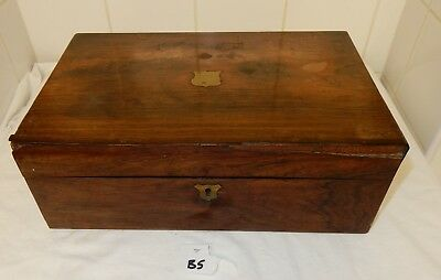 Small Victorian Rosewood Writing Slope  (B5) C1249