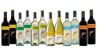 Red And White Mixed Wine Pack - Award Winning Yellow Tail 12x750ml Free Delivery