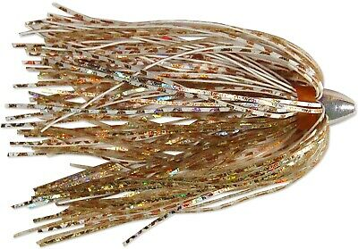 C/&H CH-KB30 King Buster Lure White And Red Fire Tail Skirt 1//8 oz