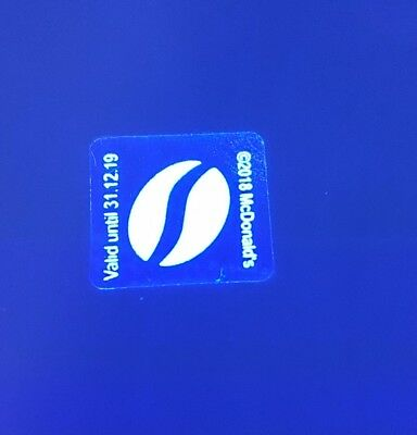 Mcdonalds Coffee Uv Light Loyalty White Stickers X 300  50 Cups Exp 31-12-19