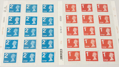 1st 2nd Class Large Unfranked Stamps off Paper WITH ORIGINAL GUM Self-Adhesive