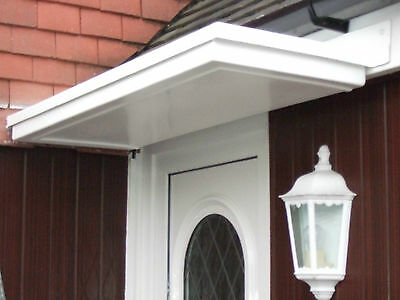 All White  Flat Top  Grp Front Door Canopy Plus Curved Brackets See Pics