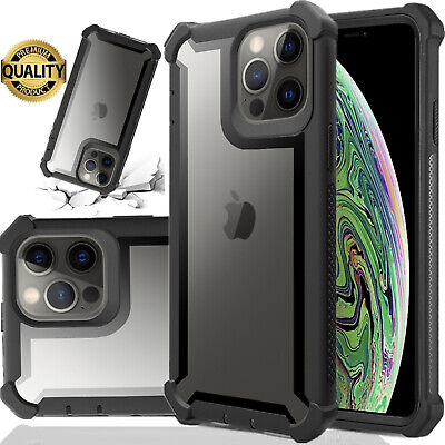 For iPhone 11 Pro Max XR XS MAX X 6 6s 7 8 Plus Clear Case Shockproof Heavy Duty