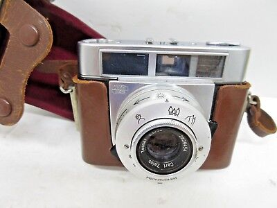 Zeiss Ikon Symbolica Camera With 50mm F2.8 Tessar Lens with Orig Leather Case