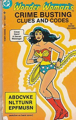 Wonder Woman's Crime Busting Clues And Codes Tempo Books Paperback 1978