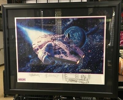 Star Wars Millennium Falcon Printed by the Brothers Hildebrandt