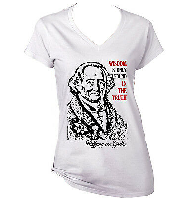 09b1206e7990 WOLFGANG VON GOETHE Sensitive Heart Quote - New Cotton Grey Lady ...