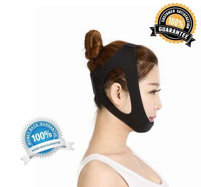 Over the Head Anti-Snoring CPAP Chin Strap Black Health Adventures LG 21.7-25.6
