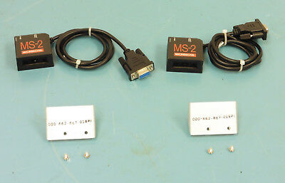 (Qty-2) Microscan MS-2 (FIS-0002-0003G) Compact Laser Barcode Scanners