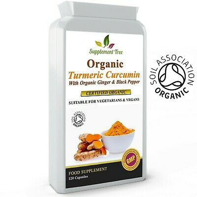 ORGANIC Turmeric Curcumin, Ginger and Black Pepper 120 Capsules - High Potency