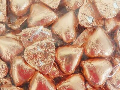 Belgian Milk Chocolate Hearts - Rose Gold (500g Bag)