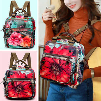 Floral Print Mummy Baby Maternity Nappy Diaper Bag Waterproof Travel Backpack