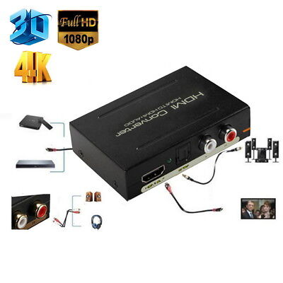 1080P HDMI TO SPDIF Optical Analog L/R 4K RCA Audio Extractor